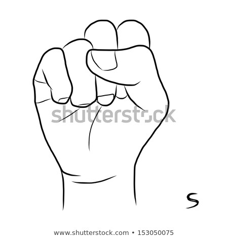 hand demonstrating, 'S' in the alphabet of signs  stock photo © vladacanon
