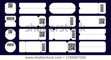 Ticket With Tear-off Coupon On Basketball Vector Stock photo © pikepicture
