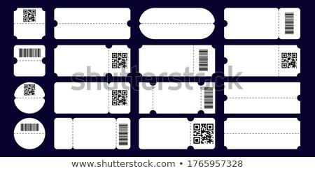 Ticket bon basketbal vector stijlvol flyer Stockfoto © pikepicture