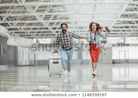 空港 エレガントな ビジネスマン スーツ 黒 ストックフォト © pressmaster
