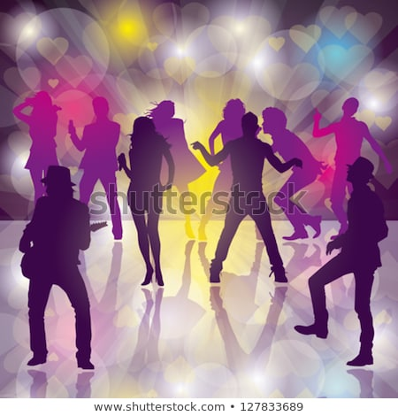 people moving on dance floor nightclub vector stock photo © robuart