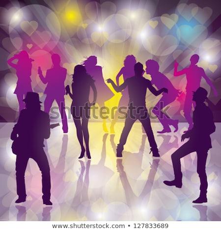 Personnes déplacement piste de danse discothèque vecteur homme Photo stock © robuart