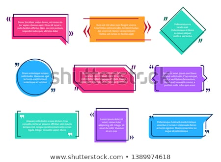Digital vector quote frames box Stock photo © frimufilms