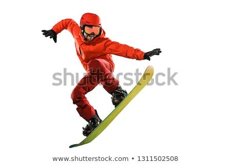 Ragazzo snowboard bianco illustrazione sport arte Foto d'archivio © bluering