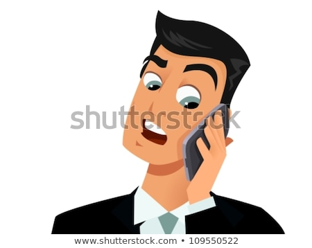 Troubled businessman talking on mobile phone Stock photo © nyul