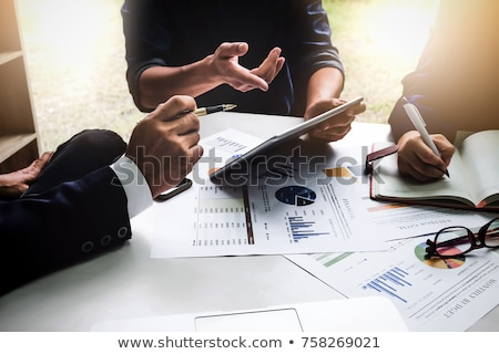 Teamwork process, Business People Discussion Marketing Plan Meet Stock photo © Freedomz
