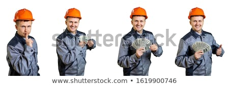 Stock photo: construction worker with earnings