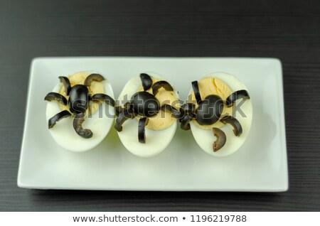 Kreatív halloween csemege pók tojások szelektív fókusz Stock fotó © furmanphoto