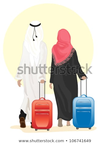 Man and Woman Traveling to Asia, Holiday Vector Stock photo © robuart