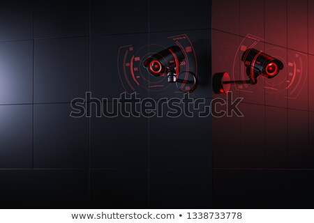 two red security cameras stock photo © magraphics