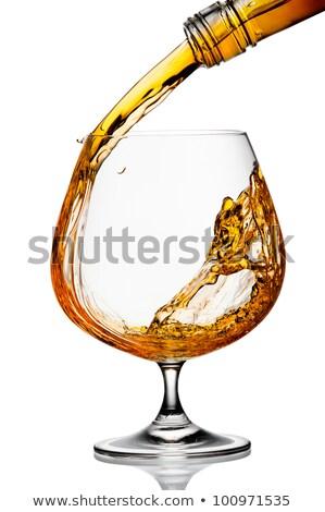 ガラス 跳ね ブランデー 木材 抽象的な 光 ストックフォト © inxti