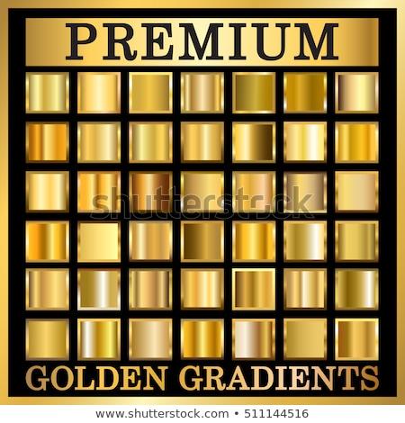 realistic golden shield badges and labels set Stock photo © SArts