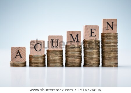 Acumen Text On Stacked Coins Arranged In Increasing Graph Stock photo © AndreyPopov
