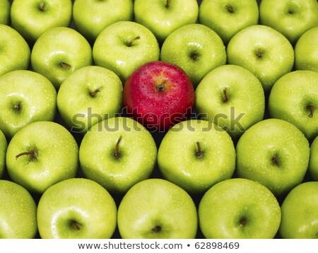 manzana · roja · pie · fuera · verde · manzanas - foto stock © lichtmeister