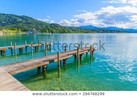 мнение озеро Австрия пейзаж синий путешествия Сток-фото © borisb17