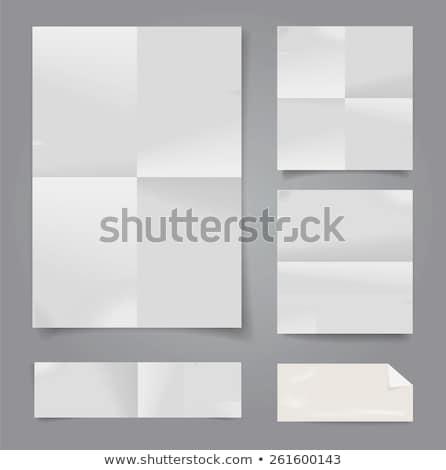 ストックフォト: Torn Paper Textured Background Stationery Mockup