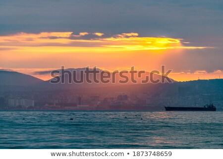 gün · batımı · bulutlar · mavi · dağlar · fırtına · bulutları · vadi - stok fotoğraf © lovleah