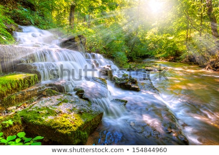 full flowing waterfall and cascades stock photo © lovleah