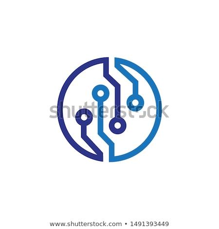 laptop · cirkel · icon · lang · schaduw - stockfoto © anna_leni