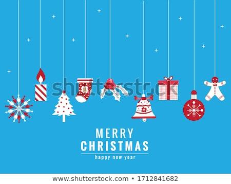 vector · vacaciones · invierno · follaje · azul - foto stock © robuart