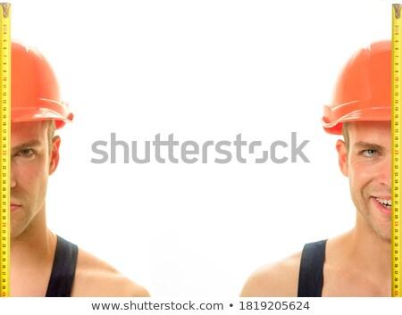 Roulette lavoratore righello uomo Foto d'archivio © robuart