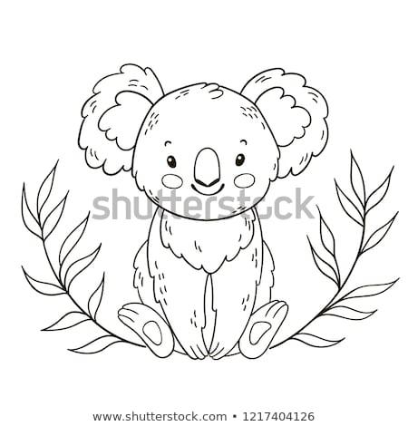 Onderwijs illustratie australisch dieren kleur boek Stockfoto © izakowski