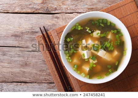 Miso soup, japanese food in the cup Stock photo © joannawnuk