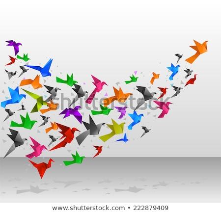 Battant origami Kid oiseau rendu 3d illustration Photo stock © orla
