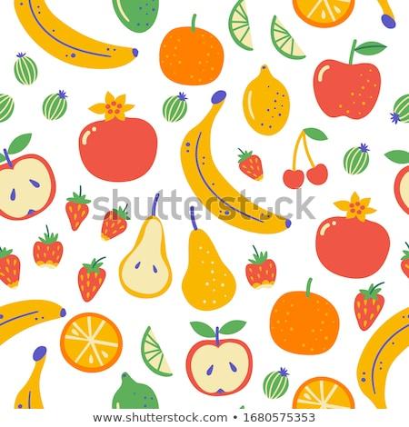Diet hand drawn doodles seamless pattern. Graphics background design. Stock photo © balabolka
