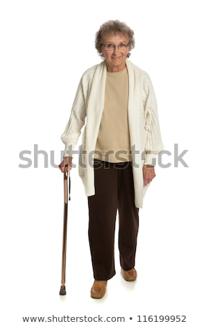 Senior woman holding cane Stock photo © choreograph