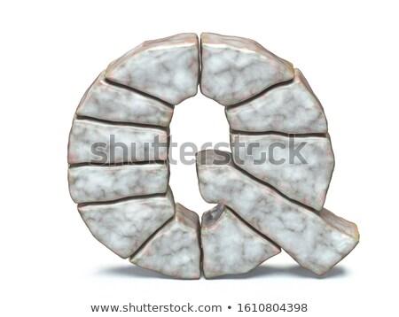 Rock masonry font letter Q 3D Stock photo © djmilic
