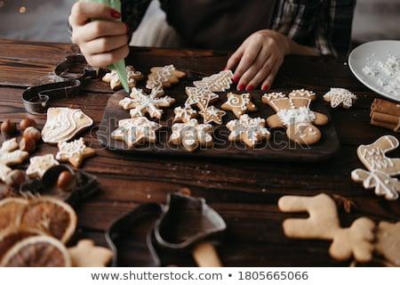 Navidad galleta muñeco de nieve aislado blanco Foto stock © Pheby