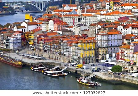 Panoramic View Of Porto Oporto Typical Old Houses Stock photo © diego_cervo
