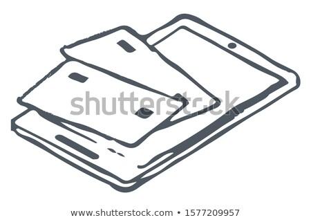 таблетка банка кредитные карты фотография кредитных Сток-фото © robuart