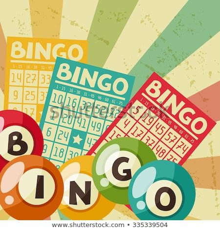 Bingo cartões postais ilustração cassino jogar natal Foto stock © adrenalina
