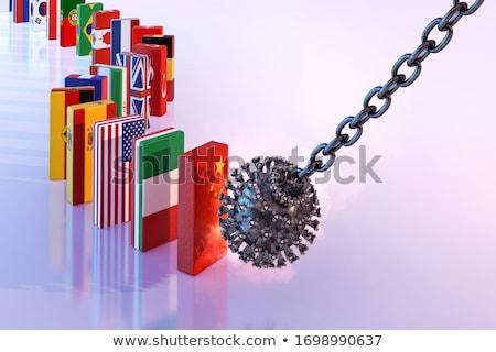19 effondrement mondial économie crise financière marché Photo stock © Kotenko