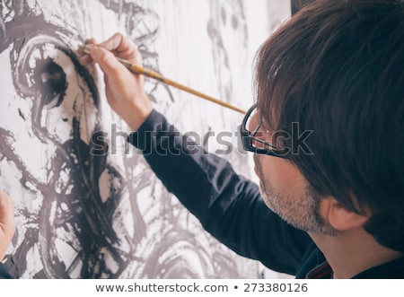 Modern artist portrait Stock photo © Anna_Om