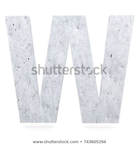 Capital letter W Stock photo © grafvision