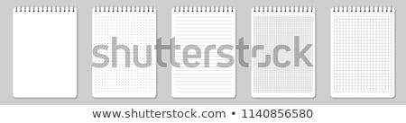 Valósághű notebook papír oldal fehér üzlet Stock fotó © netkov1