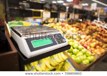 Elektronische schalen producten keuken geïsoleerd witte Stockfoto © Olena
