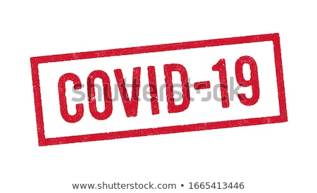 Red virus hazard sign with COVID-19 text Stock photo © alessandro0770