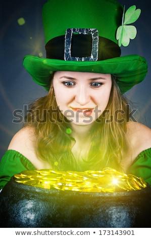 kadın · pot · altın · madeni · iş · alışveriş - stok fotoğraf © keeweeboy