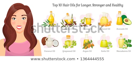Almond and Amla, Olive and Argan Oils Hair Care Stock photo © robuart