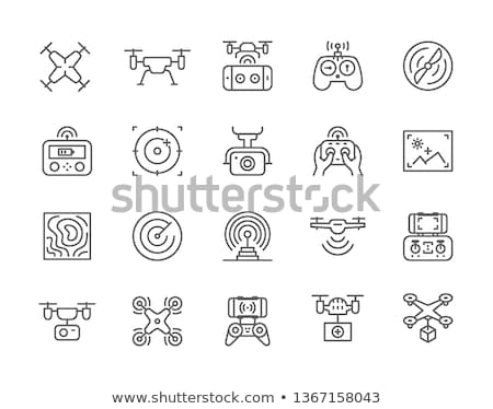 Wireless Device Drone Flying in City, Air Vector Stock photo © robuart