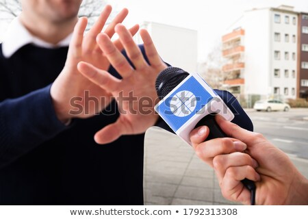 Journalist Press Interview Question Refuse Stock photo © AndreyPopov
