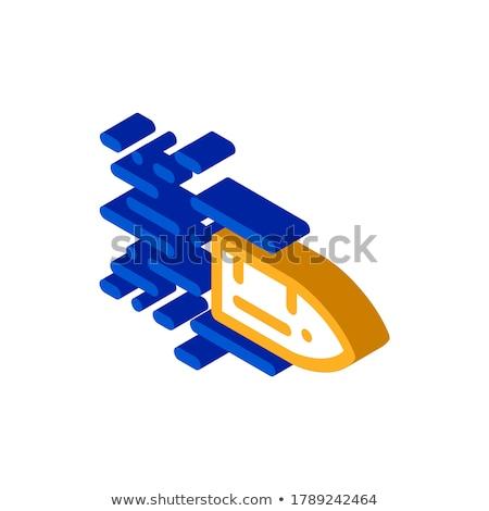 Voador bala isométrica ícone vetor assinar Foto stock © pikepicture