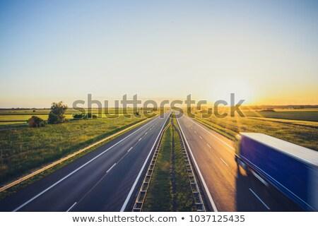 Pologne · signe · de · route · vert · nuage · rue · signe - photo stock © kbuntu