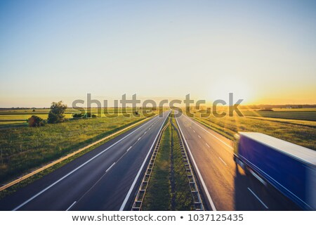 polonia · carretera · signo · verde · nube · fondo - foto stock © kbuntu