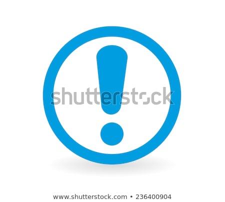 Blue exclamation mark Stock photo © orson