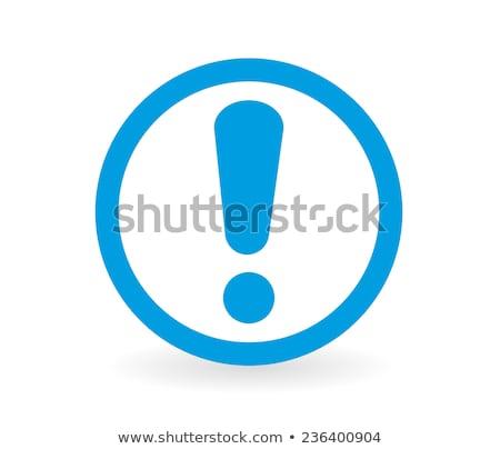 Kék felkiáltójel címke fontos zászló bolt Stock fotó © orson